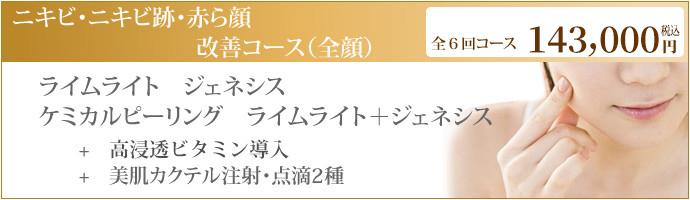 ニキビ・ニキビ跡・赤ら顔改善コース(全顏)